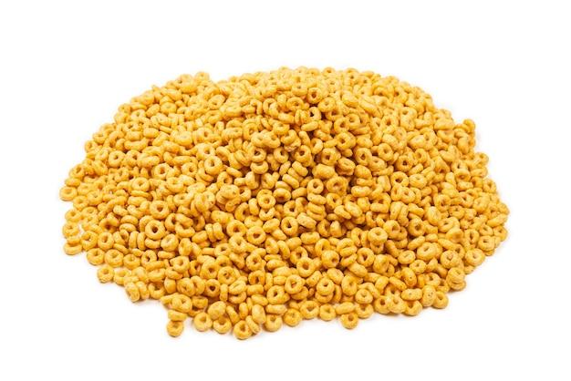 Płatki kukurydziane widok z góry
