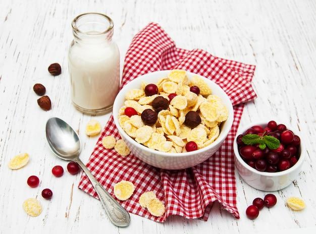 Płatki kukurydziane z mlekiem