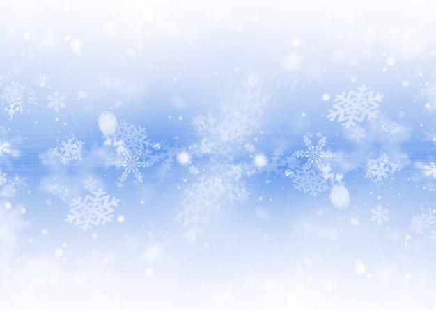 Płatki śniegu w tle