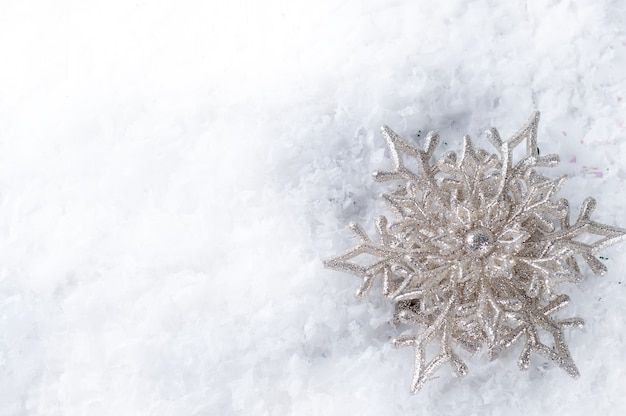 Płatki śniegu. zimowa dekoracja