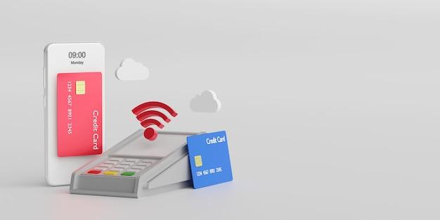 Płatności zbliżeniowe za pomocą technologii nfc, płatność bezprzewodowa kartą kredytową na smartfonie