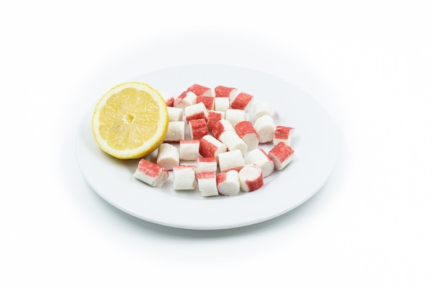 Plato de bocas de mar con limón