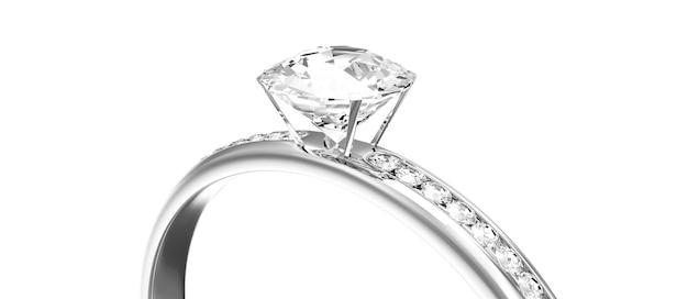 Platynowa obrączka ślubna z diamentami na białym tle
