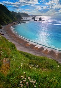 Playa del silencio w cudillero asturias hiszpania