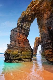 Playa las catedrales catedrais plaża w galicia hiszpania