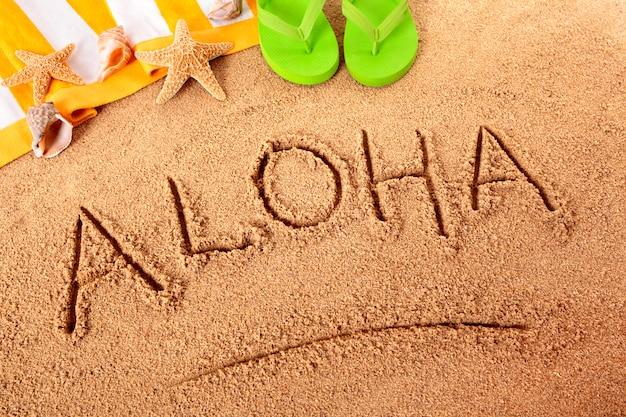 Plaża aloha na hawajach