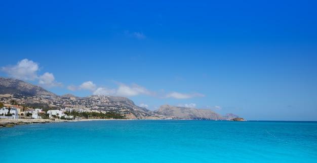 Plaża altea w alicante playa de l olla