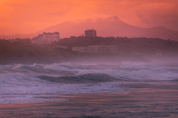 Plaża basków w biarritz, kraj basków