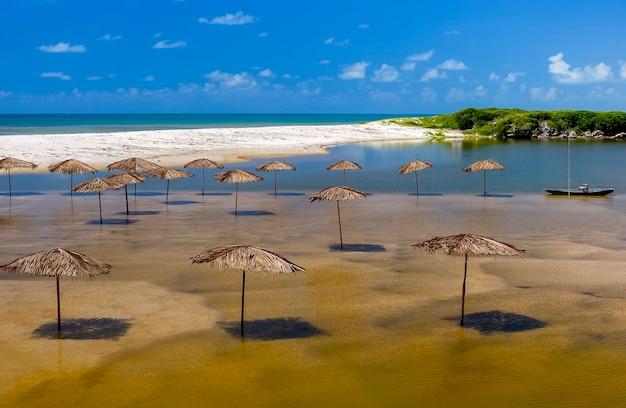 Plaża bela conde w pobliżu joao pessoa paraiba północno-wschodnie wybrzeże brazylii