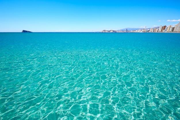 Plaża benidorm levante w alicante w hiszpanii