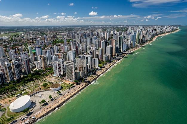 Plaża boa viagem recife pernambuco brazylia widok z lotu ptaka