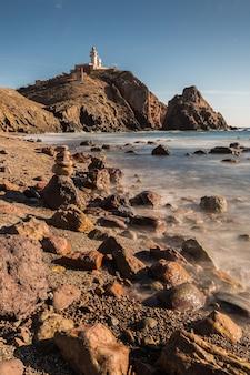 Plaża corralete, park przyrody cabo de gata, hiszpania