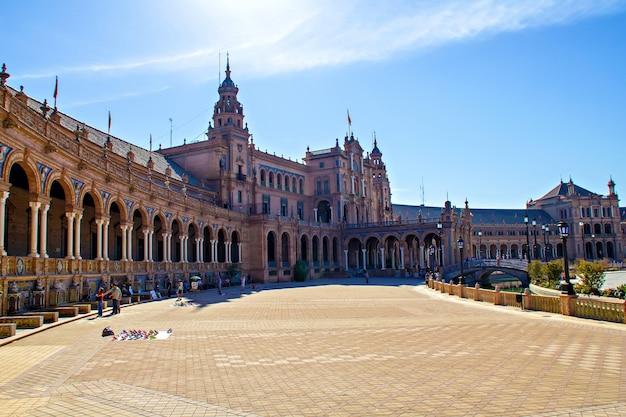 Plaza de espana, sewilla, hiszpania