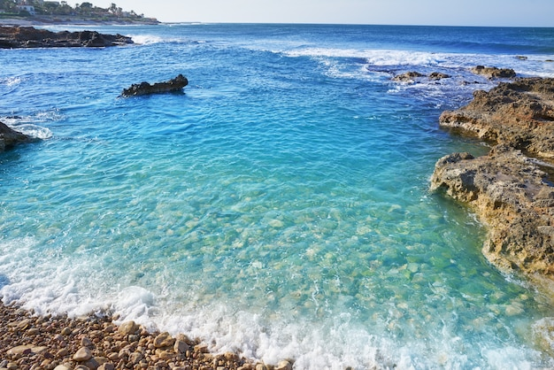 Plaża denia w las rotas w hiszpanii