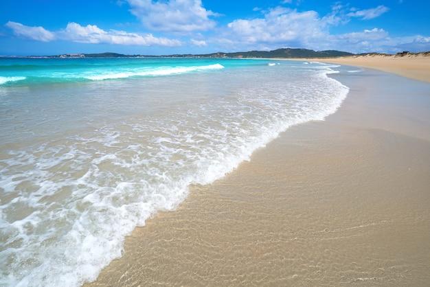 Plaża espineiro lanzada w pontevedra w galicji