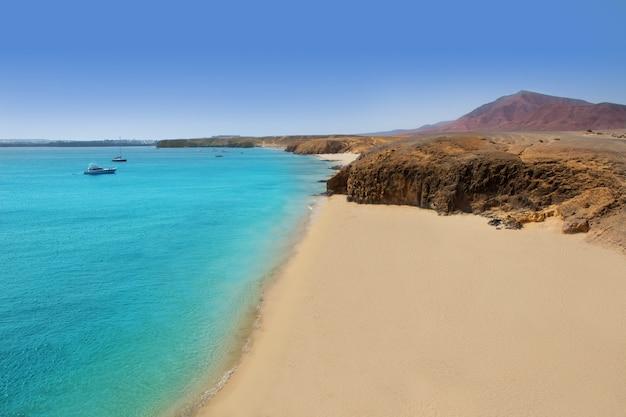 Plaża lanzarote playa del pozo costa papagayo