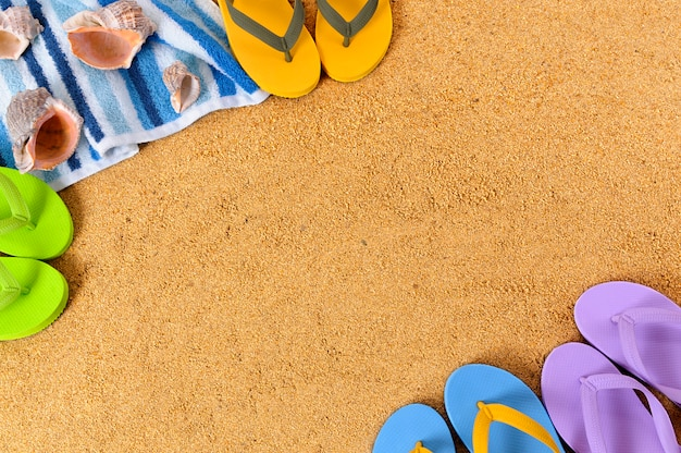 Plaża latem w tle