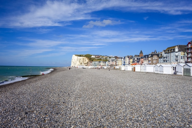 Plaża le-treport, normandia, francja