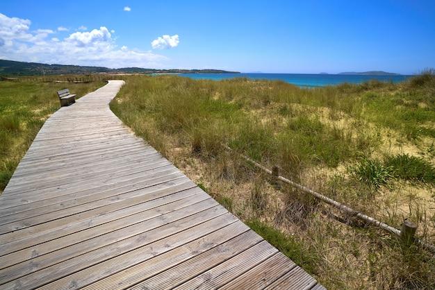 Plaża montalvo w pontevedra w galicji sanxenxo