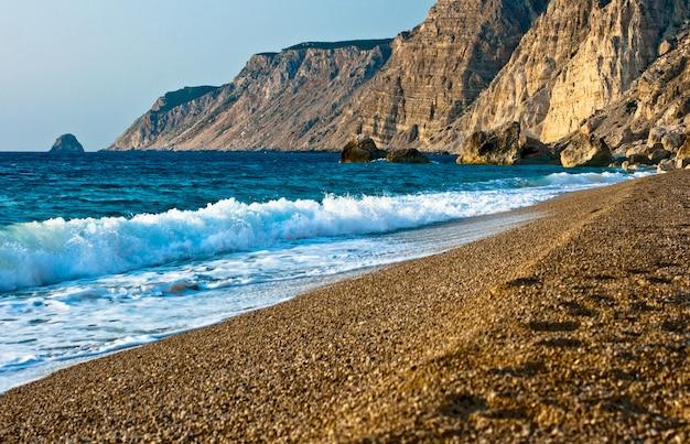 Plaża platia amos, kefalonia