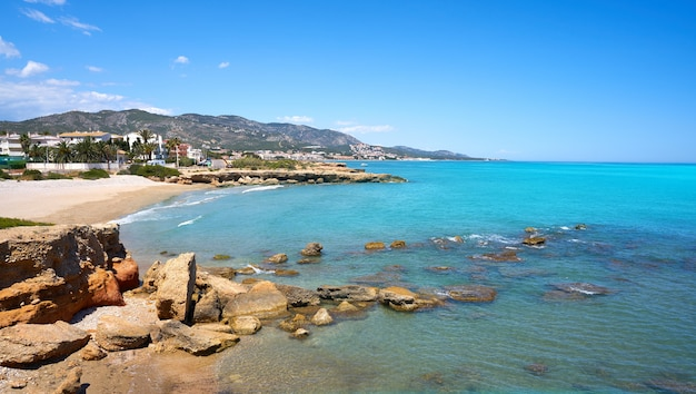 Plaża playa del moro alcossebre lub alcoceber