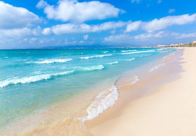 Plaża plażowa majorka sarenal platja de palma