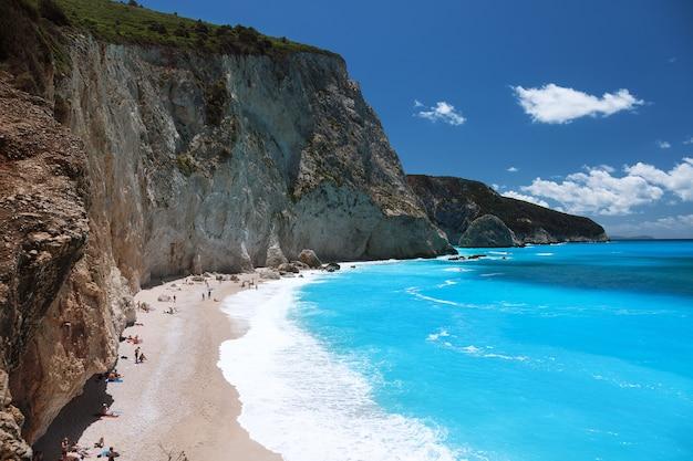 Plaża porto katsiki, lefkada, grecja