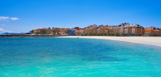 Plaża portonovo baltar w pontevedra w galicji