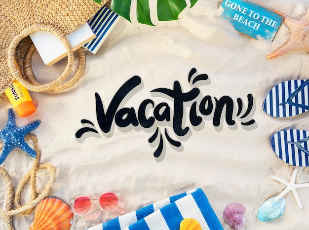 Plaża powołanie ciesz się wakacjami summer concept