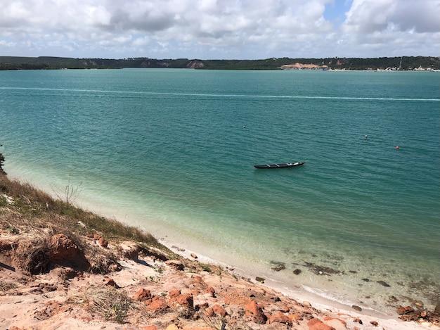 Plaża przejrzyste morze w alagoas