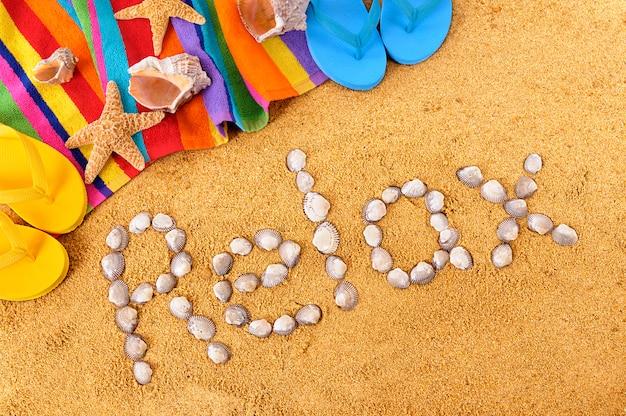 Plaża relaksować wakacje