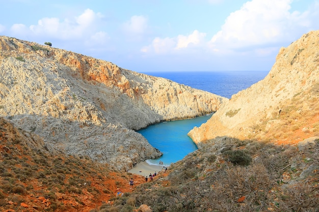 Plaża seitan limania na krecie, grecja