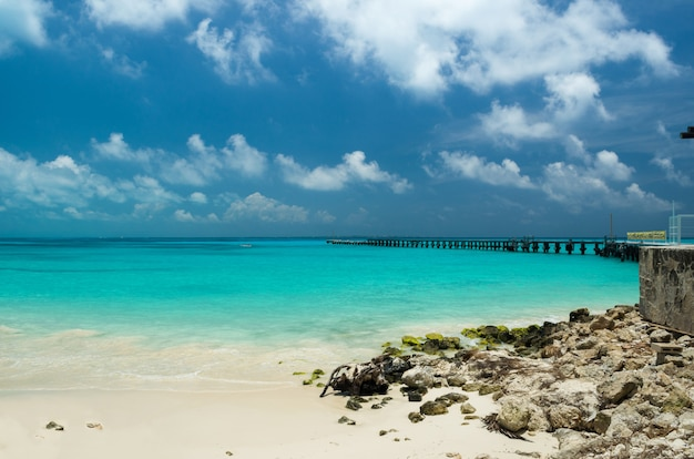 Plaża w cancun, meksyk, karibe.