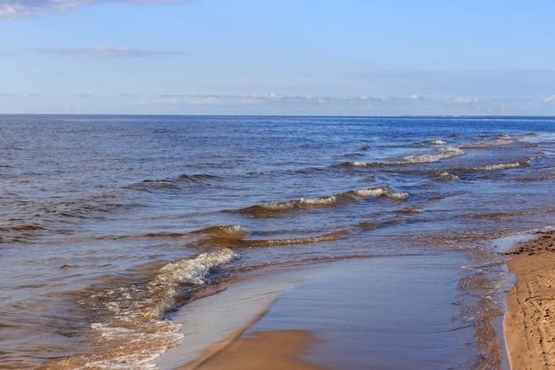 Plaża w letni poranek