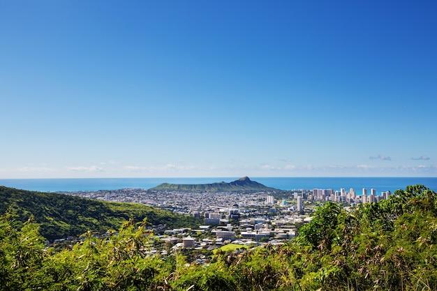 Plaża waiikiki w honolulu na hawajach