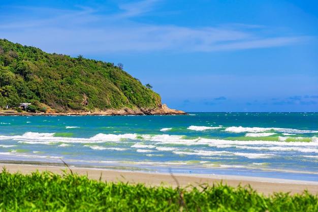 Plaża, wschodnie wybrzeże tajlandii.