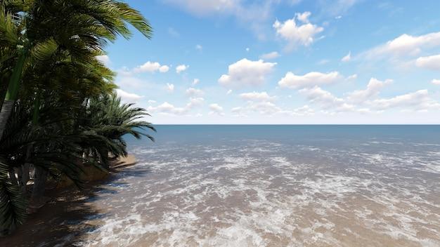 Plaża z drzewa
