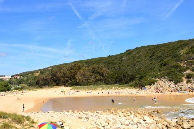 Plaża zavial, vila do bispo, algarve, portugalia