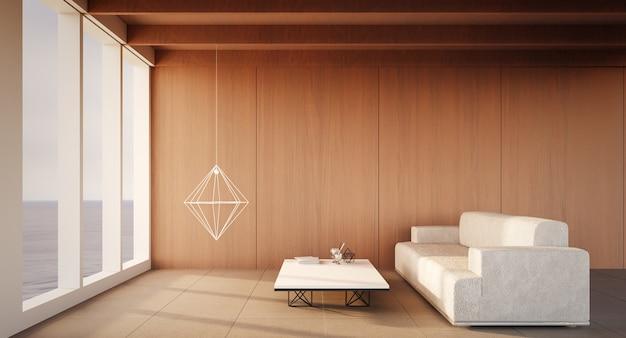 Plażowy luksusowy utrzymanie na dennym widoku / 3d renderingu