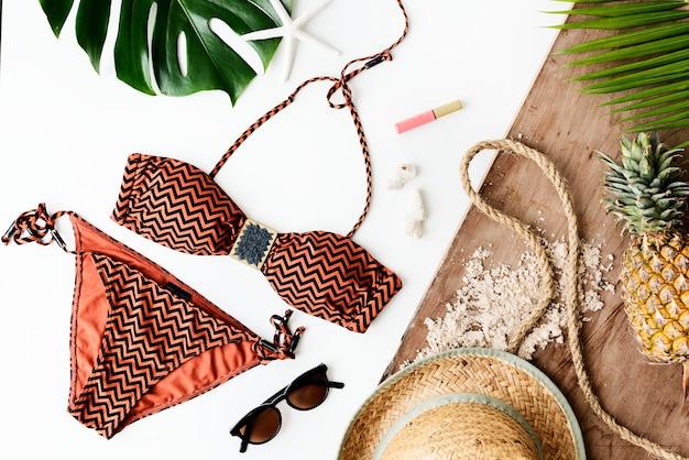 Plażowy wakacje letni wakacje podróży eksploraci pojęcie