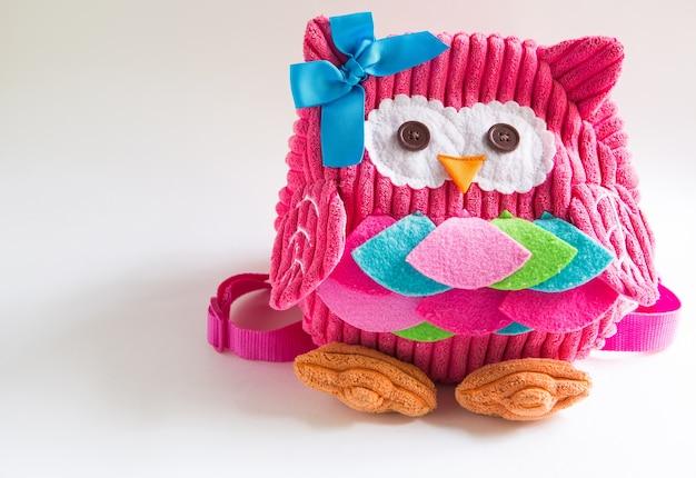 Plecak-zabawka dla dziewczynki w kształcie sowy