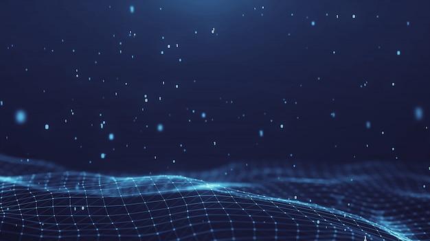 Plexus abstrakcjonistyczna sieć tytułów technologii cyfrowy tło.