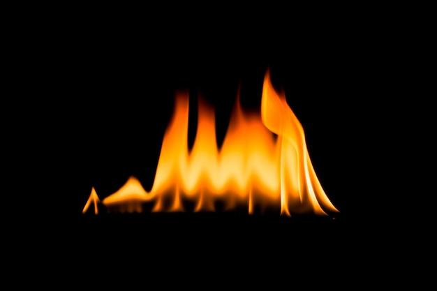 Płomienie ognia. czarny .