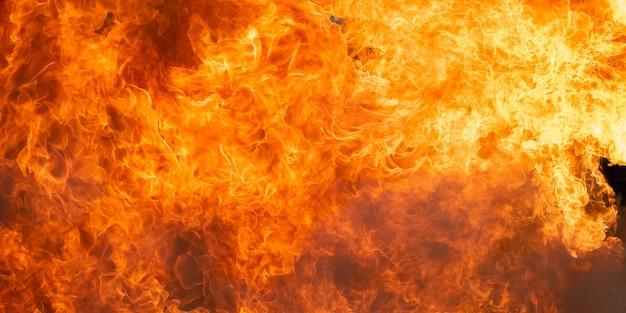 Płonące tło płomień ognia i abstrakcyjne