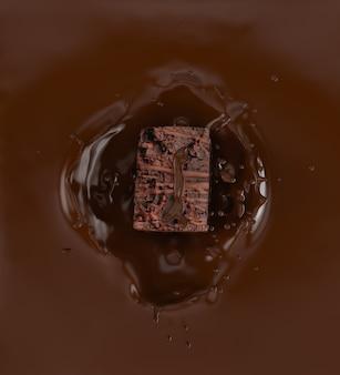 Plusk czekolady.
