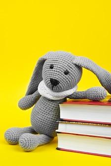 Pluszowa zabawka z książkami zbliżenie