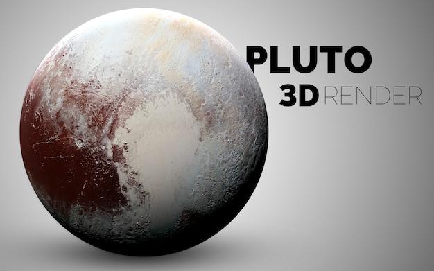 Pluton. zestaw planet układu słonecznego renderowanych w 3d. elementy tego zdjęcia dostarczone przez nasa