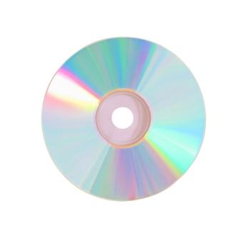 Płyta cd na białym tle