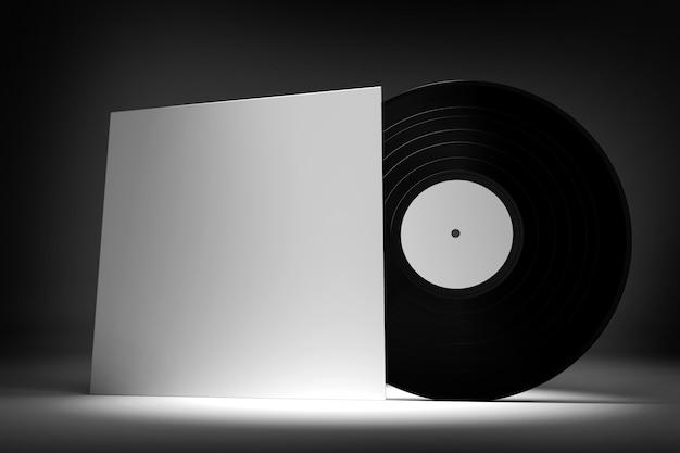 Płyta winylowa - renderowanie 3d