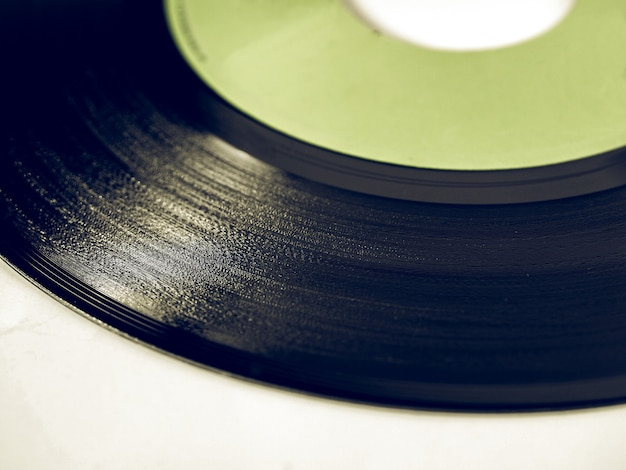Płyta winylowa w stylu vintage